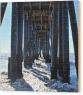 Port Hueneme Pier - Waves Wood Print