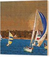 Port Huron Sailboat Race Wood Print