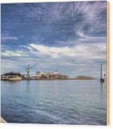 Port Melbourne Harbour Wood Print