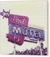 Port Motel Wood Print