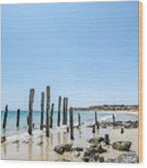 Port Noarlunga Pylons Wood Print
