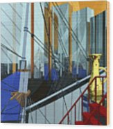 Port Of Call Wood Print