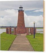Port Of Kissimmee Lighthouse In Central Florida Wood Print