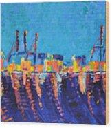 Port Of Malaga Wood Print