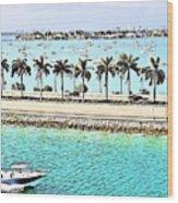 Port Of Miami - Miami, Florida Wood Print