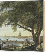 Port Of Philadelphia, 1800 Wood Print by Granger