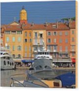 Port Of Saint-tropez In France Wood Print by Giancarlo Liguori