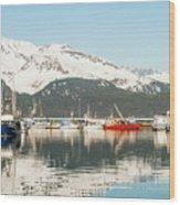 Port Of Seward Alaska  Wood Print