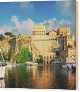 Port Of Sorrento, Southern Italy Wood Print