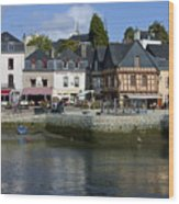 Port Of St Goustan In Brittany  France Wood Print