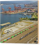 Port Of Vancouver Bc Wood Print