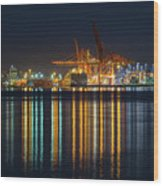 Port Of Vancouver In British Columbia Canada Wood Print