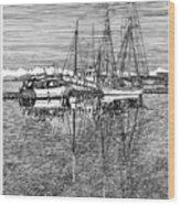 Port Orchard Marina Wood Print