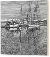 Port Orchard Marina Wood Print
