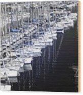 Port Parking Wood Print