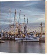 Port Royal Shrimp Boats Wood Print
