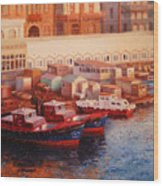 Port Said At Dawn Wood Print