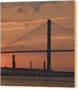 Port Savannah Sunset Wood Print