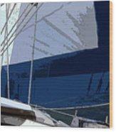 Port Tack Wood Print