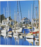 Port Townsend Harbor Wood Print