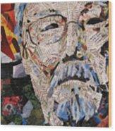 Portait Of David Suzuki Wood Print
