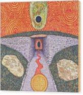 Portal Of The Celtic Goddess Wood Print