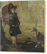 Portarolo Col Cane Wood Print