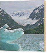 Porter Glacier Alaska  Wood Print