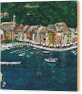 Portifino Italy Wood Print