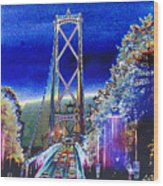 Portland Bridge Wood Print