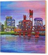 Portland City Lights #106 Wood Print