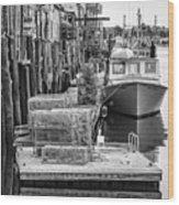 Portland Dock Wood Print