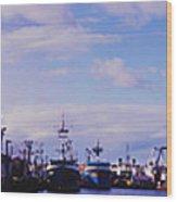 Portland Harbor Panaramic Wood Print
