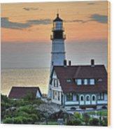 Portland Head Lighthouse At Daybreak 2 Wood Print