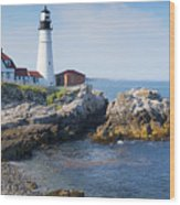 Portland Head Lighthouse Portland Me Wood Print