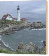 Portland Headlight, Maine Wood Print