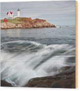 Portland Lighthouse Wood Print