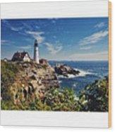#portland #lighthouse #maine Wood Print