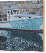 Portland Lobster Boat Wood Print