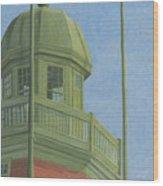 Portland Observatory In Portland, Maine Wood Print