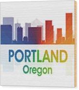 Portland Or Wood Print