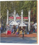 Portland Saturday Market Wood Print
