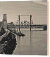 Portland Steel Bridge Wood Print
