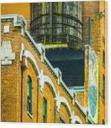 Portland Water Tower II Wood Print