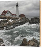 Portlandhead Lighthouse Wood Print