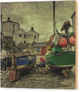 Portloe Boats  Wood Print