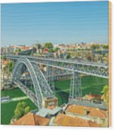 Porto Bridge Skyline Wood Print