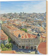 Porto Historic Center Aerial Wood Print