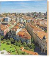 Porto Panorama Skyline Wood Print