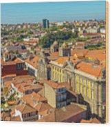 Porto Skyline Portugal Wood Print